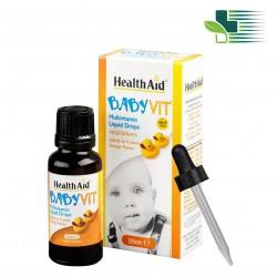 HEALTHAID BABY VIT ΠΟΛΥΒΙΤΑΜΙΝΕΣ ΣΕ ΣΤΑΓΟΝΕΣ 25ML