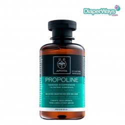 APIVITA PROPOLINE BALANCING SHAMPOO FOR VERY OILY HAIR WITH PEPPERMINT AND PROPOLIS 250ML