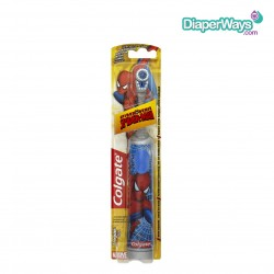 COLGATE POWERED TOOTHBRUSH EXTRA SOFT SPIDERMAN 3+ YEARS (GRAY)